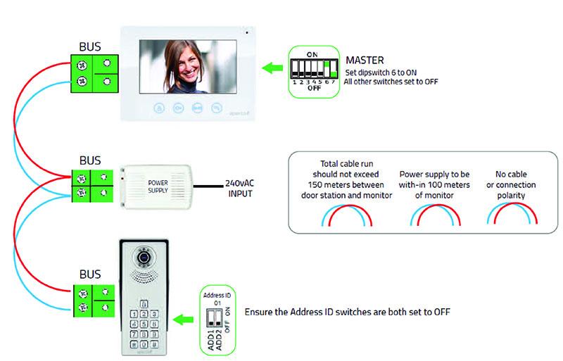 Video Intercom Wire Diagram