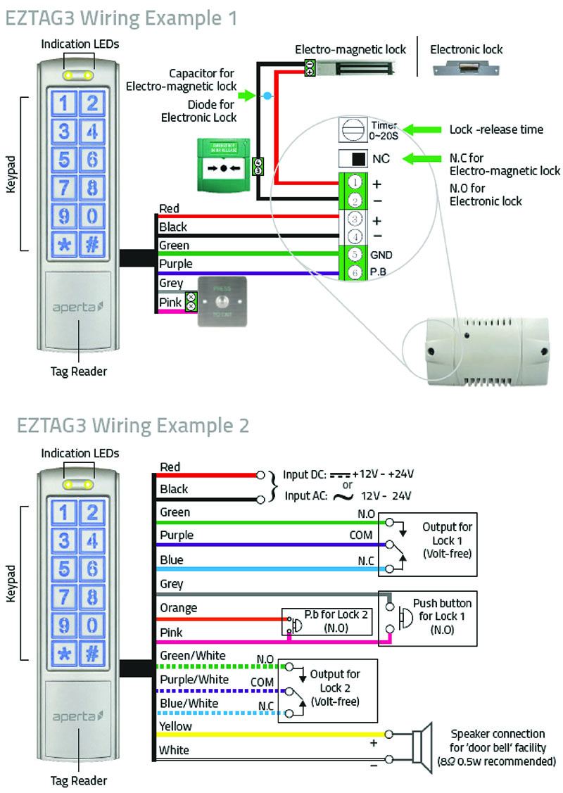 ESP UK - Products Maglock Card Reader Wiring Diagram on